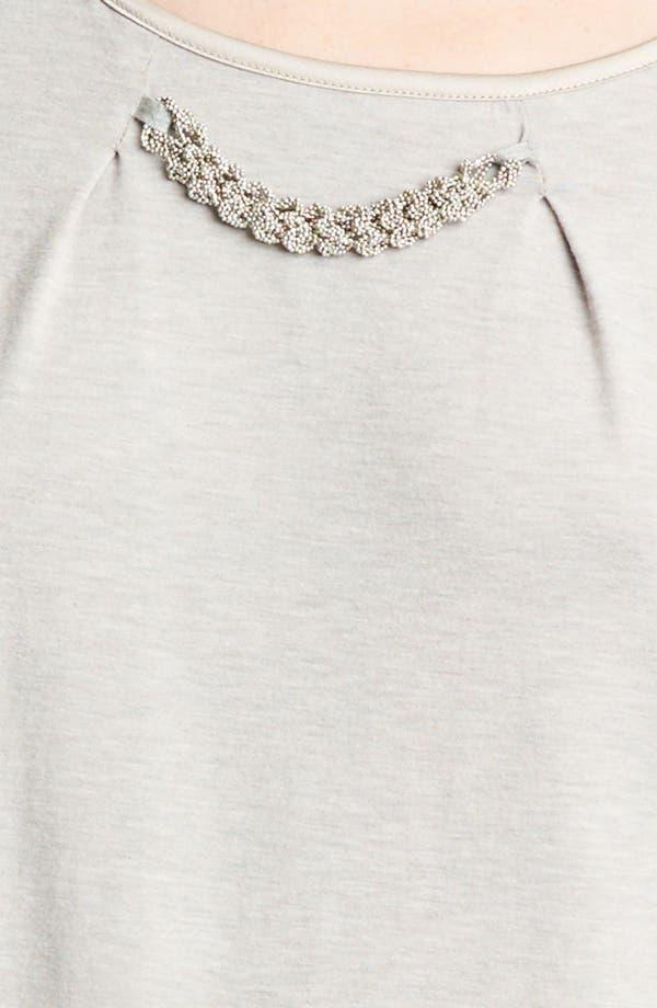 Alternate Image 3  - Fabiana Filippi Embellished Neck Jersey Tee