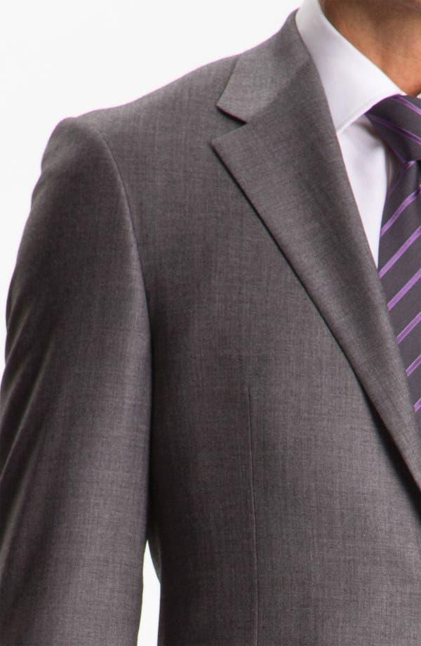 Alternate Image 6  - Hickey Freeman Solid Wool Suit