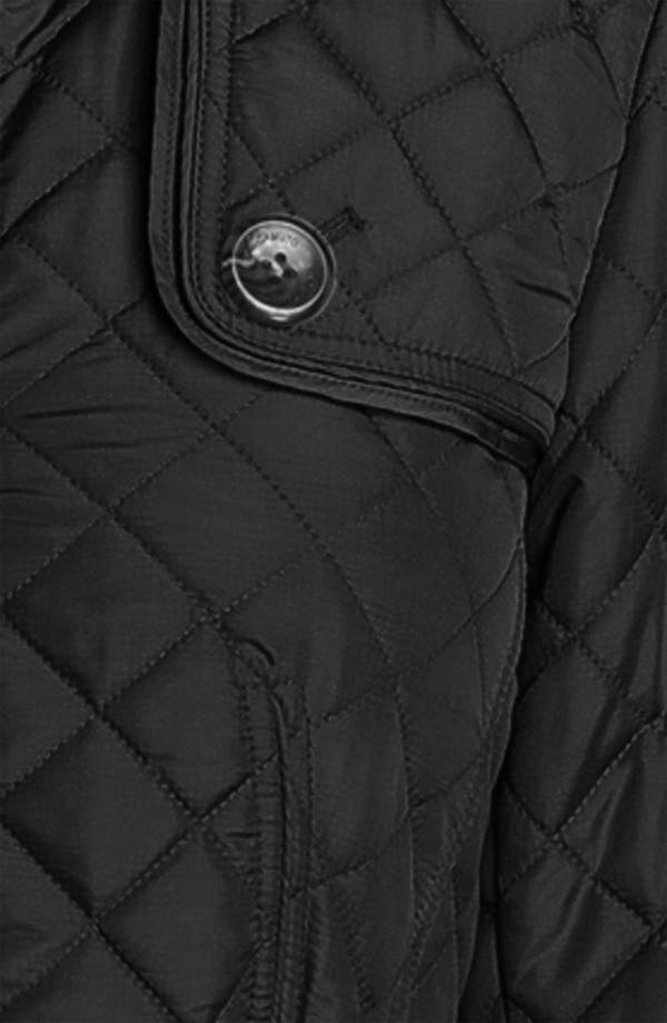 Quilted Jacket,                             Alternate thumbnail 3, color,                             Black