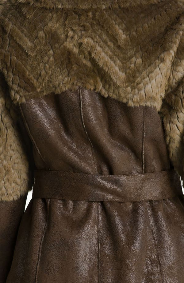 Alternate Image 3  - Kenneth Cole New York Belted Faux Shearling Coat