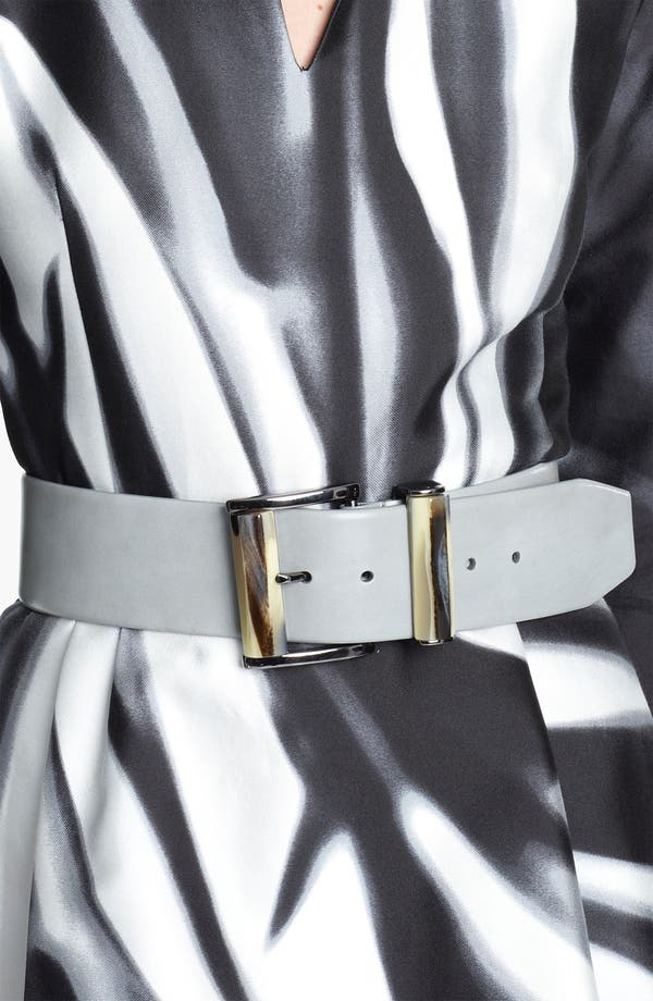 Alternate Image 2  - Oscar de la Renta Wide Leather Belt