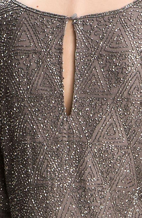 Alternate Image 3  - Pisarro Nights Beaded Split Sleeve Silk Shift Dress