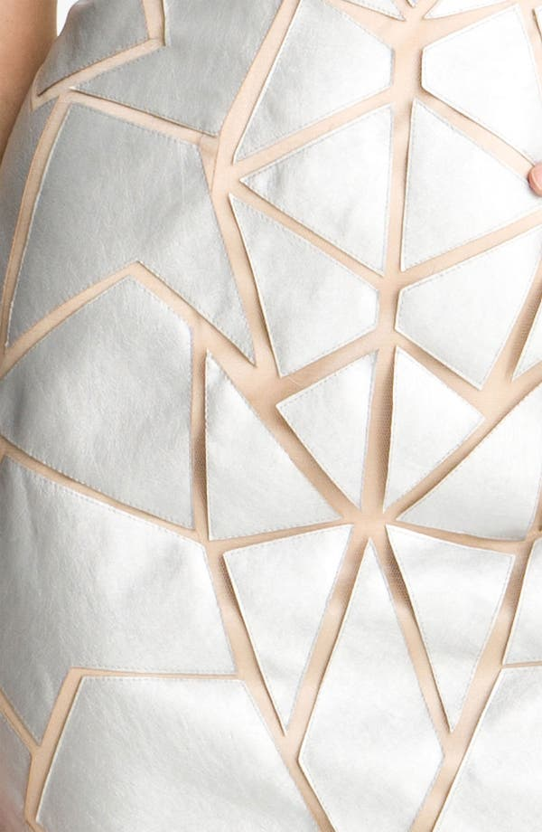 Alternate Image 3  - Aidan Mattox Geometric Appliqué Tulle Sheath Dress