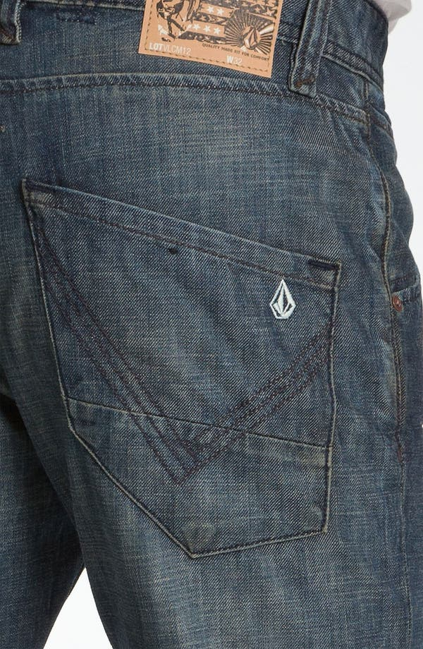 Alternate Image 4  - Volcom 'Nova' Slim Straight Leg Jeans (Naz) (Online Only)