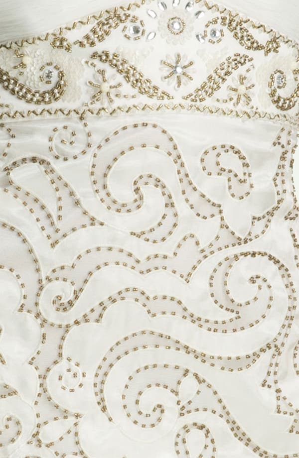 Embellished Sweetheart Sheath Dress,                             Alternate thumbnail 3, color,                             White