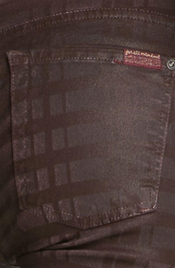 Alternate Image 3  - 7 For All Mankind® Print Skinny Jeans (Burgundy Plaid)