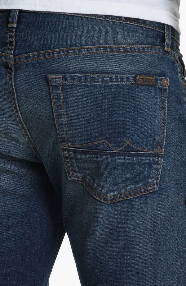 Alternate Image 4  - 7 For All Mankind® Standard Straight Leg Jeans (Carmel Valley)