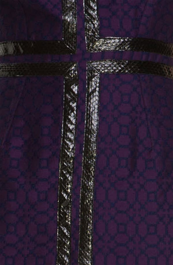 Alternate Image 3  - Tracy Reese Leather Appliqué Bicolor Jacquard Dress