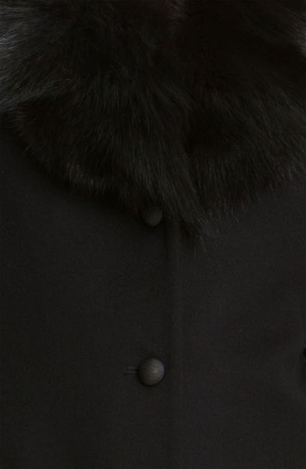 Alternate Image 3  - Fleurette Loro Piana Wool Coat with Genuine Fox Fur (Online Exclusive)