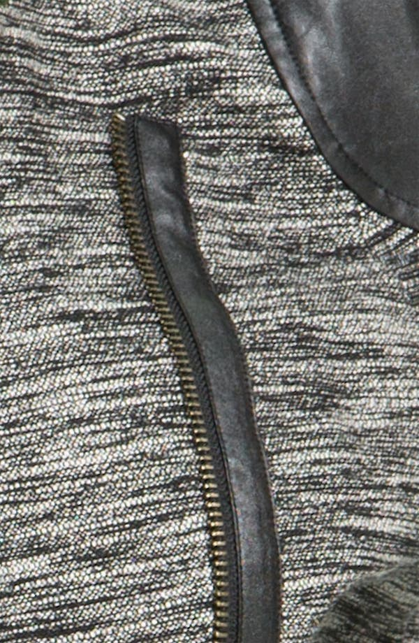 Alternate Image 3  - Trouvé Faux Leather Sleeve Tweed Jacket