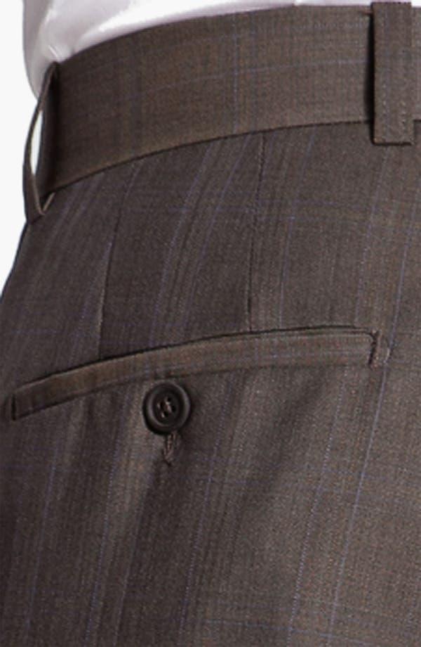 Alternate Image 3  - Linea Naturale 'Bensol' Plaid Wool Trousers