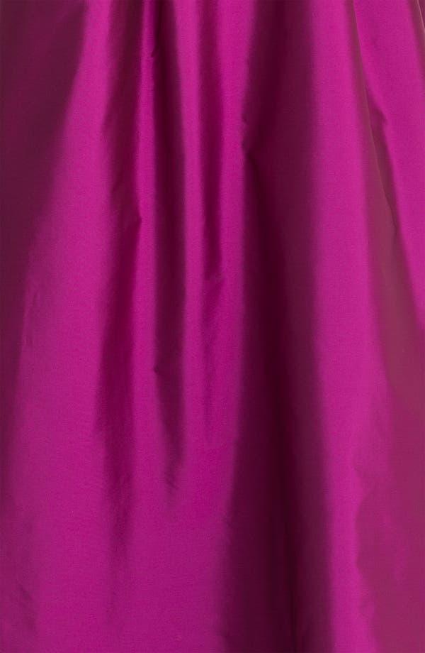 Alternate Image 3  - Eliza J Spaghetti Strap Faille A-Line Gown