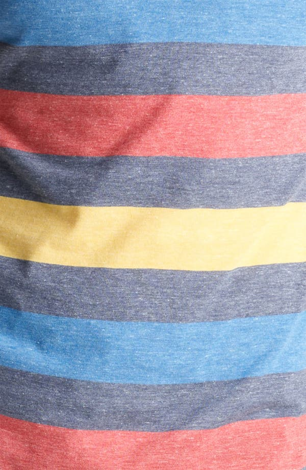 Alternate Image 3  - Topman Rainbow Stripe V-Neck T-Shirt