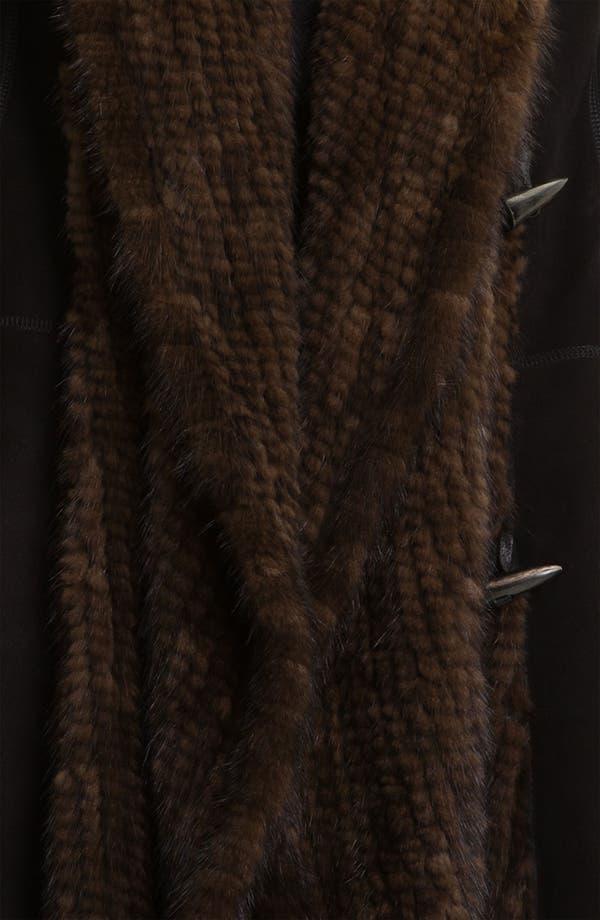 Alternate Image 3  - HIDESOCIETY Genuine Shearling Coat with Genuine Mink Trim