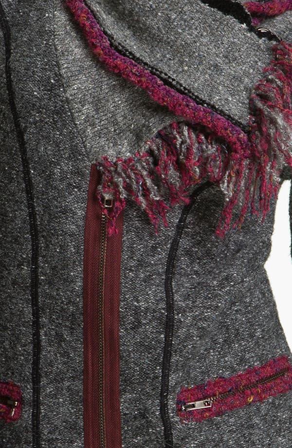Alternate Image 3  - Curio 'Very Berry' Scarf Jacket