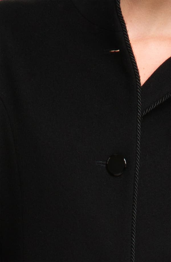 Alternate Image 3  - Fleurette Stand Collar Loro Piana Wool Coat (Petite)