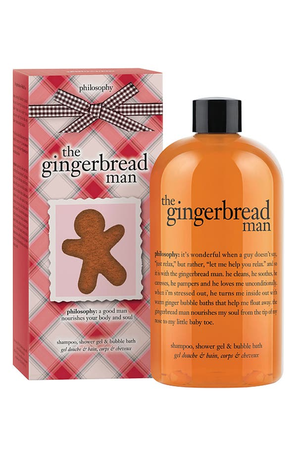 Main Image - philosophy 'the gingerbread man' shampoo, shower gel & bubble bath