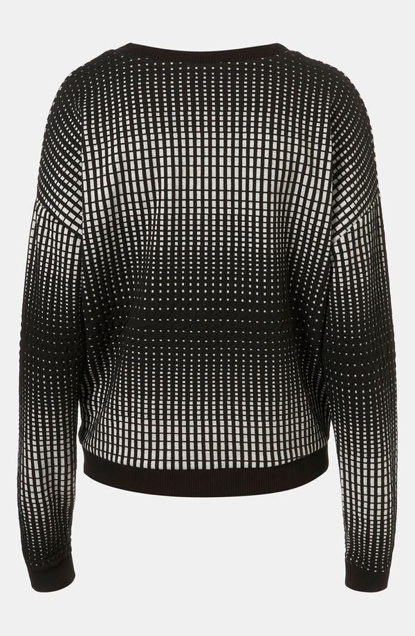 Alternate Image 2  - Topshop 'Grid' Sweatshirt