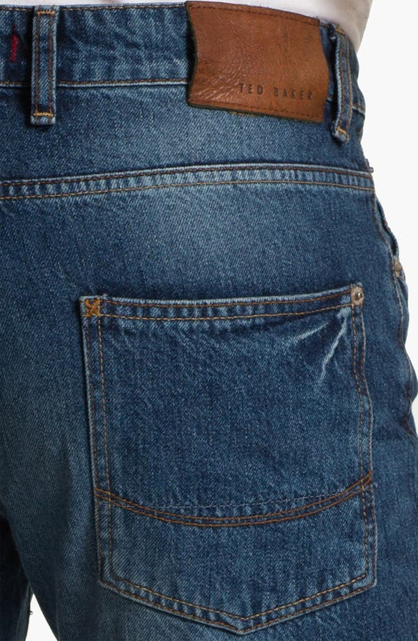Alternate Image 4  - Ted Baker London 'Slystee' Straight Leg Jeans (Light)