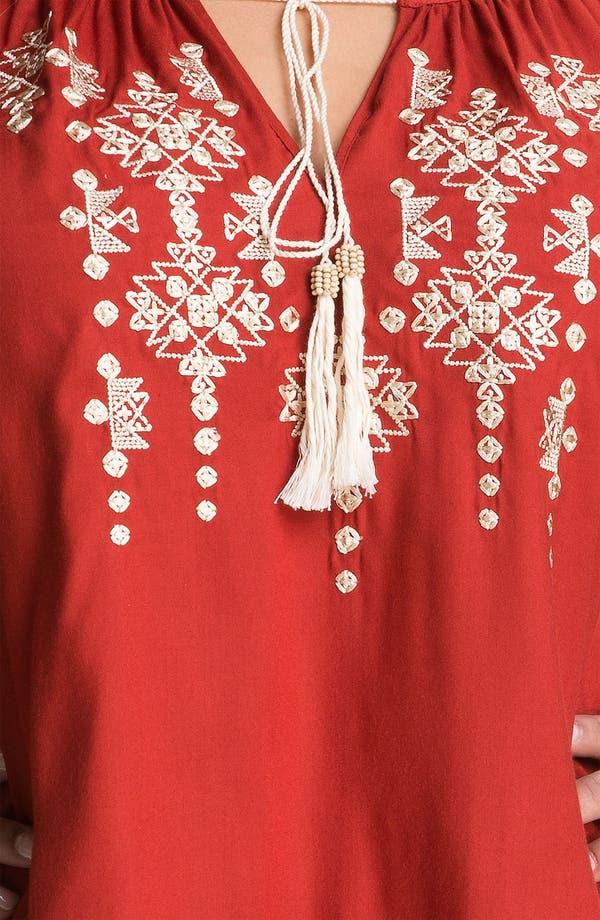 Alternate Image 3  - Karen Kane Embroidered Peasant Top (Plus)