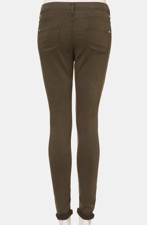 Alternate Image 2  - Topshop Moto 'Leigh' Skinny Jeans (Dark Khaki)