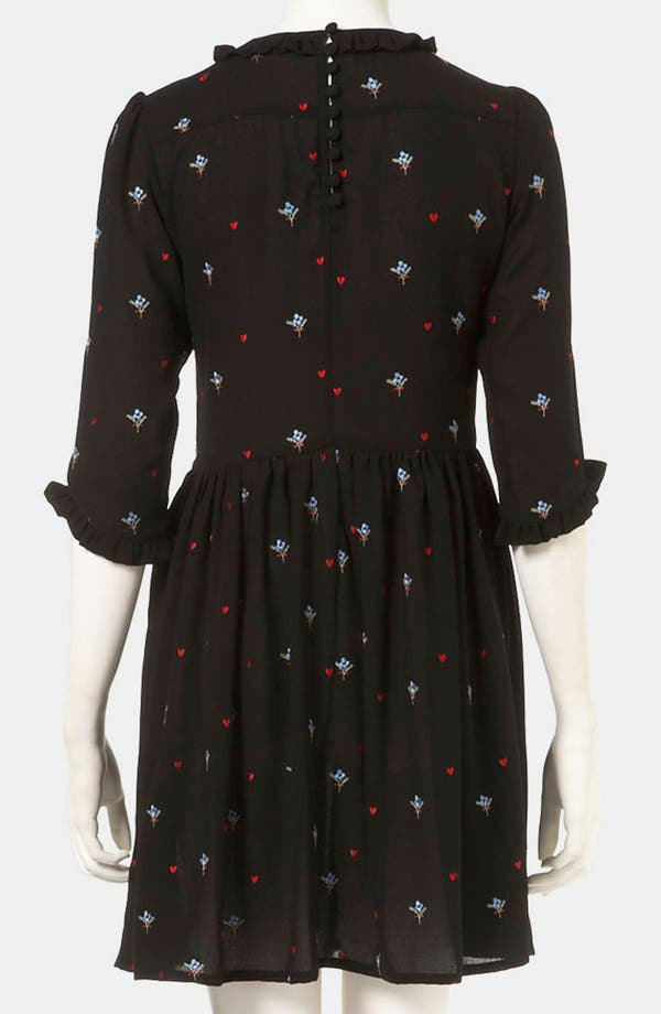 Alternate Image 2  - Topshop Embroidered Tea Dress