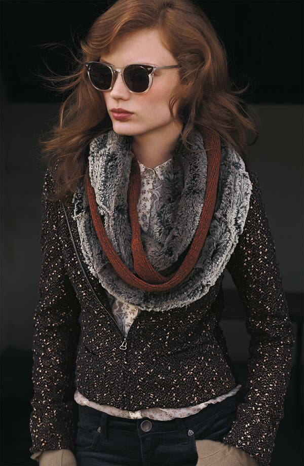 Alternate Image 3  - Collection XIIX 'Piper' Faux Fur & Marled Knit Infinity Scarf