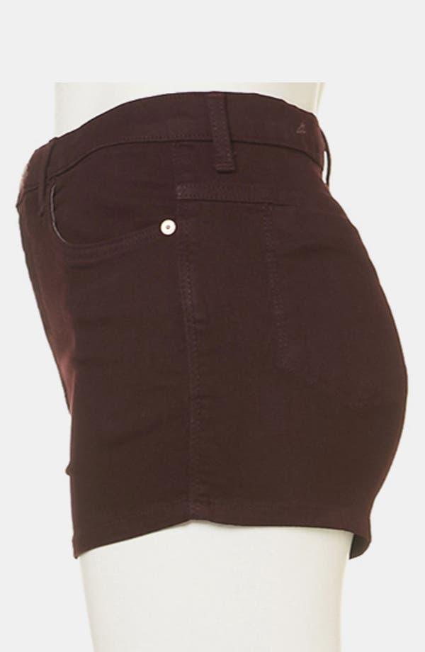 Alternate Image 4  - Topshop Moto 'Suri' Denim Hot Pants (Burgundy)