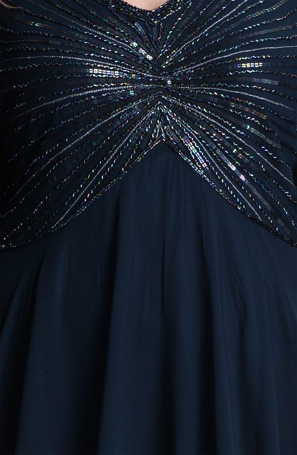 Alternate Image 3  - J Kara V-Neck Sequin Bodice Dress (Plus)
