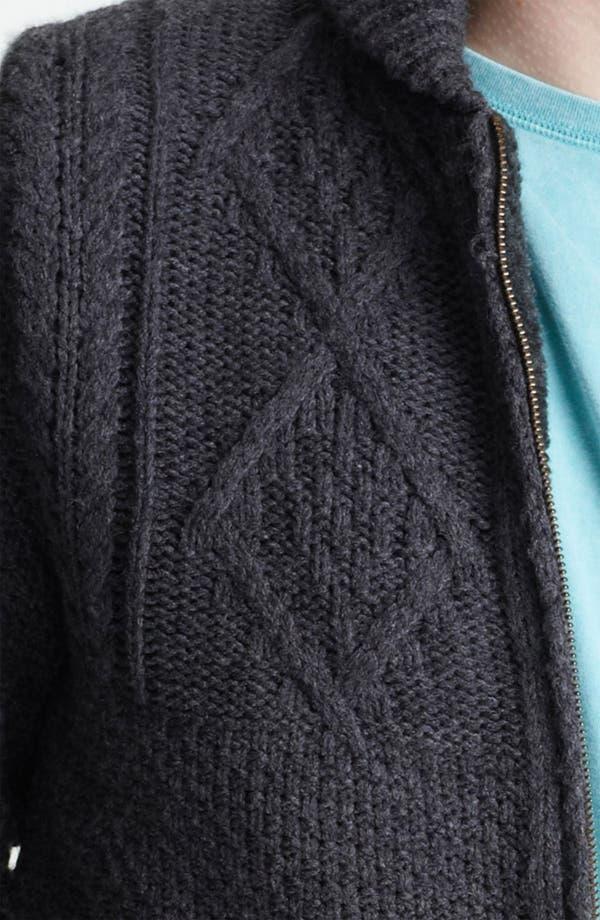 Alternate Image 3  - Topman 'Borg' Shawl Collar Zip Cardigan