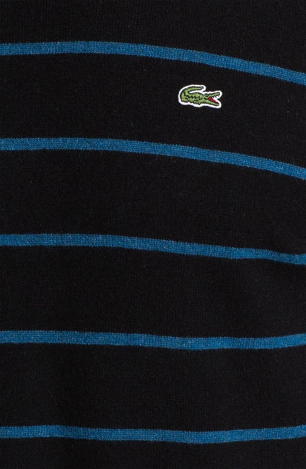 Alternate Image 3  - Lacoste Stripe Wool Crewneck Sweater