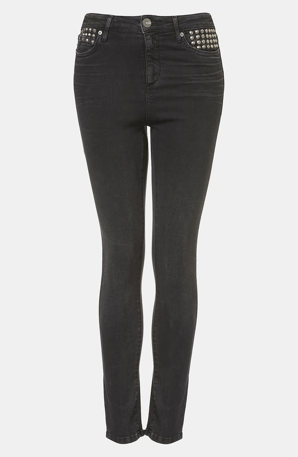 Alternate Image 1 Selected - Topshop Moto 'Jamie' Studded High Waist Skinny Jeans