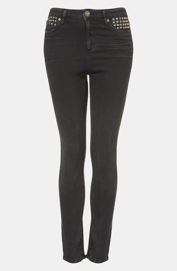 Main Image - Topshop Moto 'Jamie' Studded High Waist Skinny Jeans