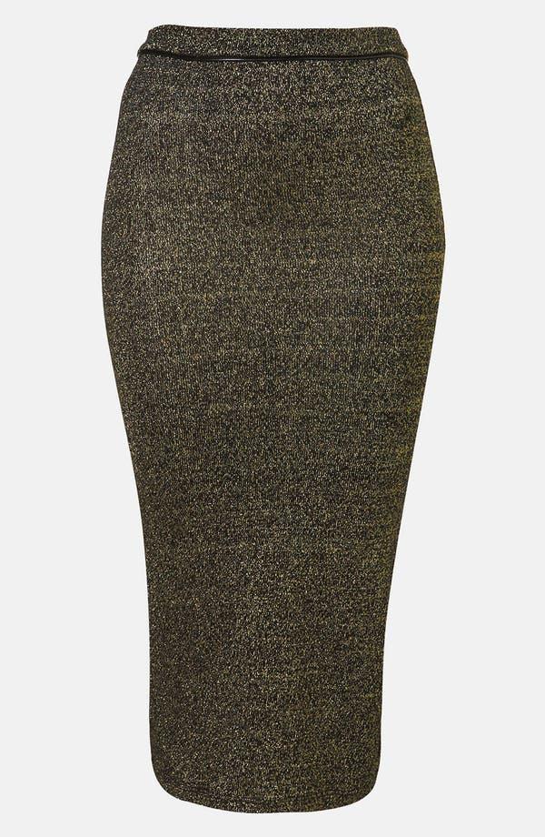 Main Image - Topshop Metallic Midi Skirt