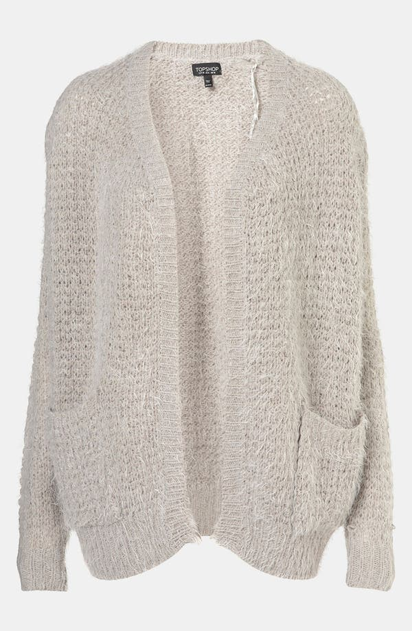 Alternate Image 1 Selected - Topshop Feather Knit Cardigan