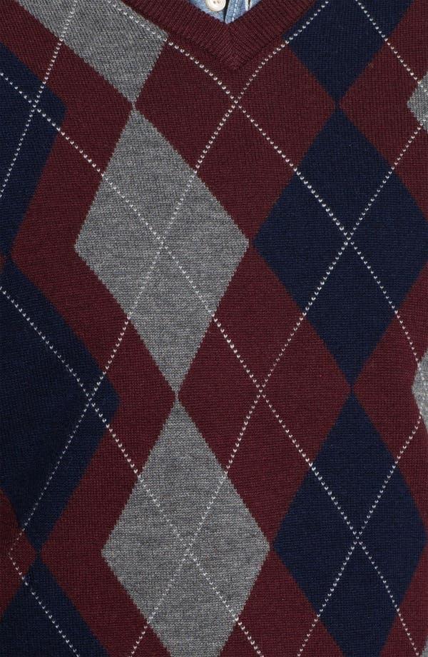 Alternate Image 3  - Toscano Merino Wool Blend V-Neck Sweater