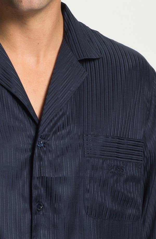 Alternate Image 3  - BOSS Black 'Innovation 4' Woven Silk & Cotton Pajama Set