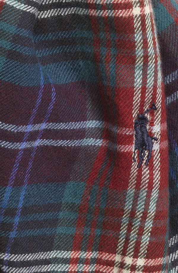 Alternate Image 2  - Polo Ralph Lauren Plaid Cotton Scarf