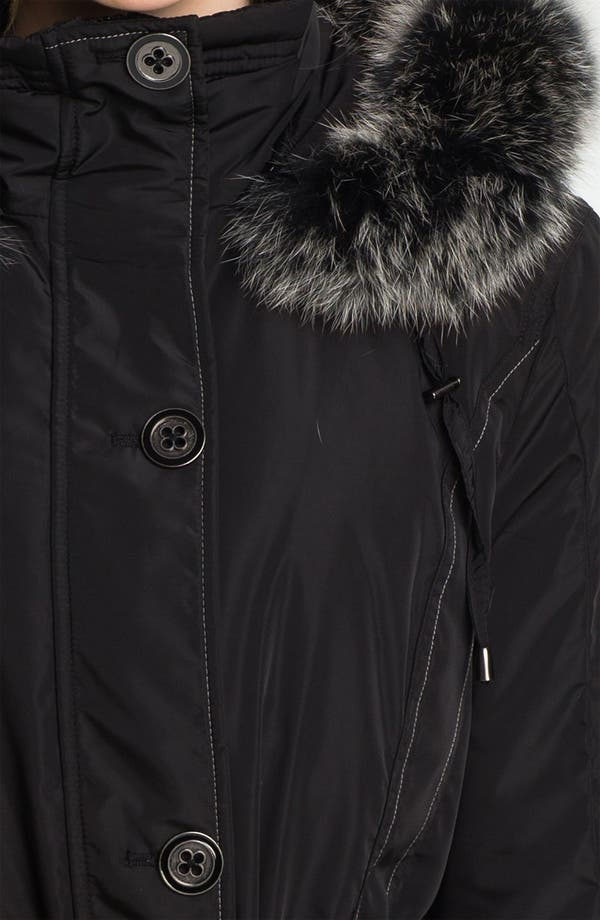 Alternate Image 3  - Sachi Belted Parka with Genuine Fox Fur
