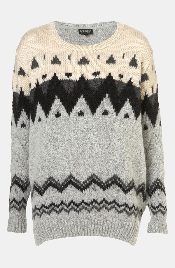 Alternate Image 1 Selected - Topshop Nordic Knit Sweater
