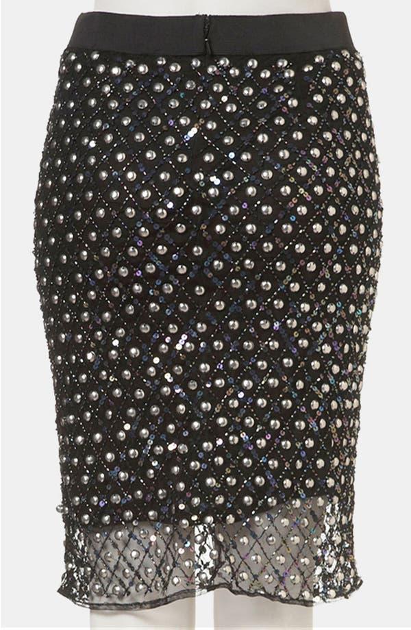 Alternate Image 2  - Topshop Embellished Sheer Hem Pencil Skirt