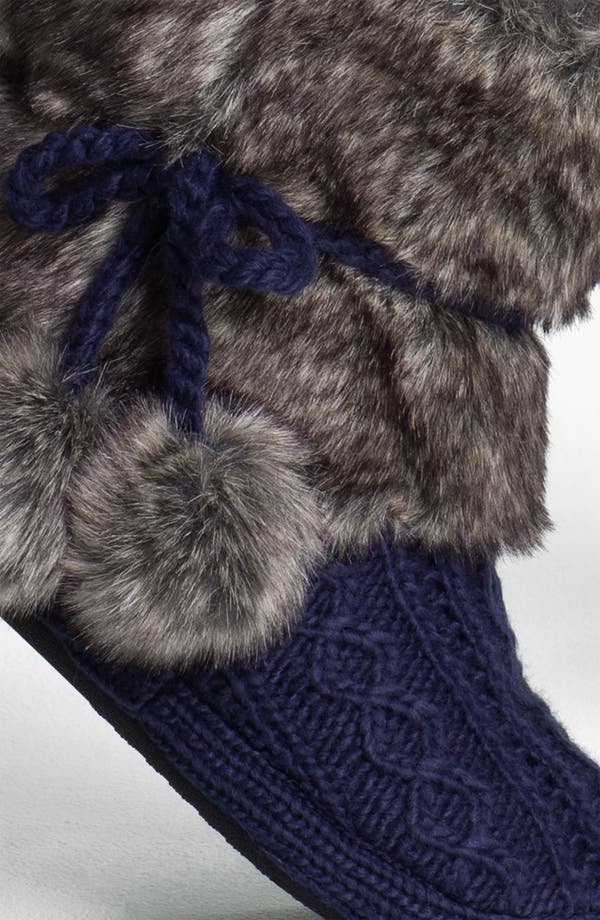 Alternate Image 2  - Make + Model Faux Fur Trim Slipper Socks