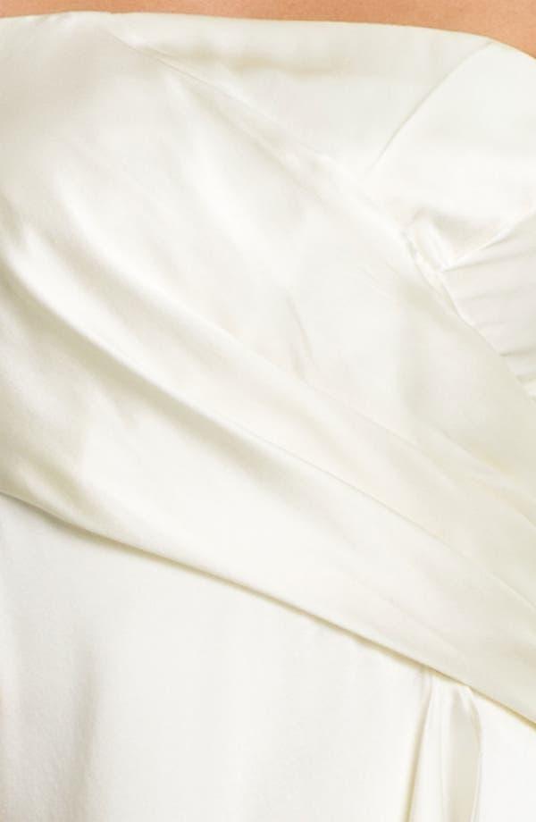 Alternate Image 3  - Alexia Admor Strapless Silk Charmeuse Dress
