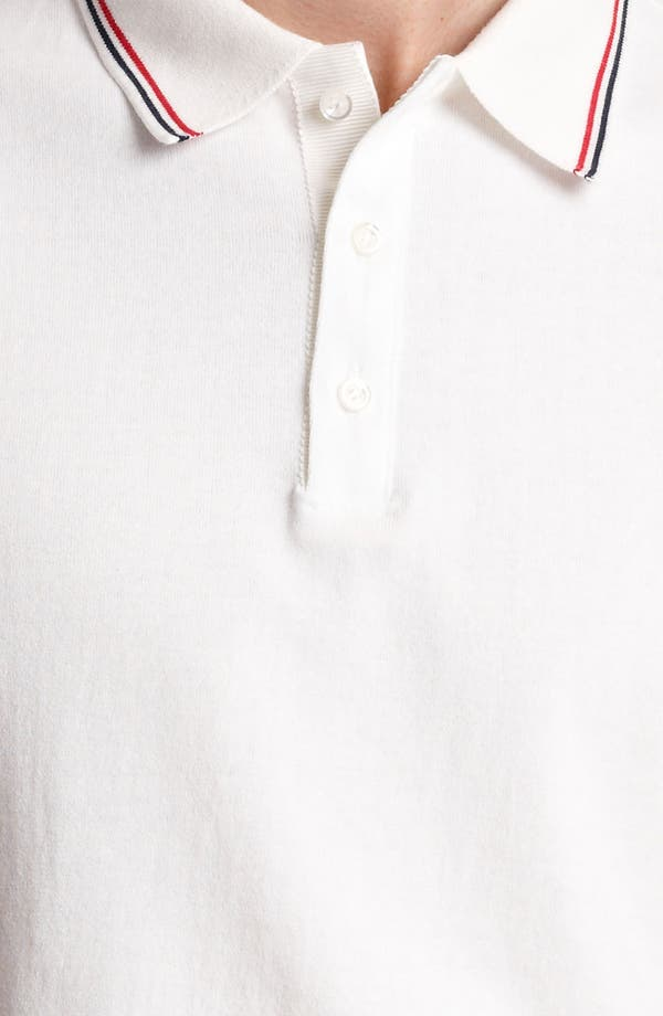 Alternate Image 3  - Thom Browne Tipped Cotton Jersey Polo