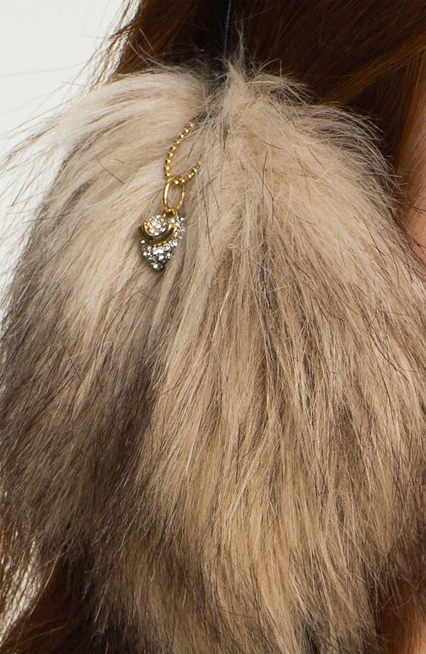 Alternate Image 2  - Juicy Couture Faux Fur Headphone Earmuffs