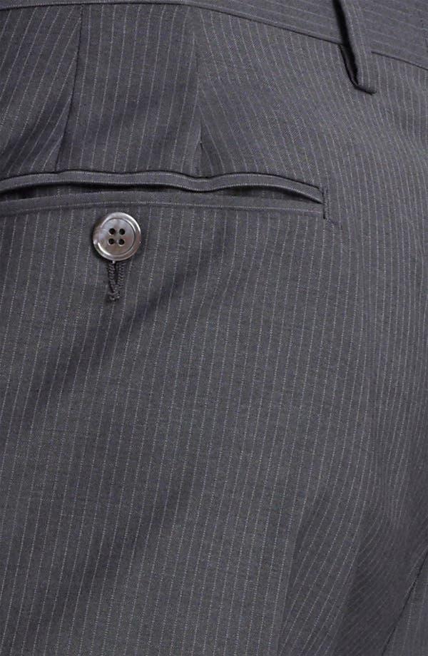 Alternate Image 6  - Paul Smith London Slim Fit Chalk Stripe Wool Suit