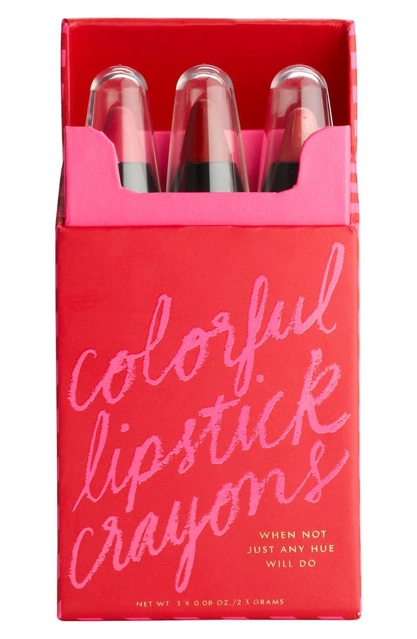 Alternate Image 2  - kate spade new york 'sprinkles' lip crayons (set of three)
