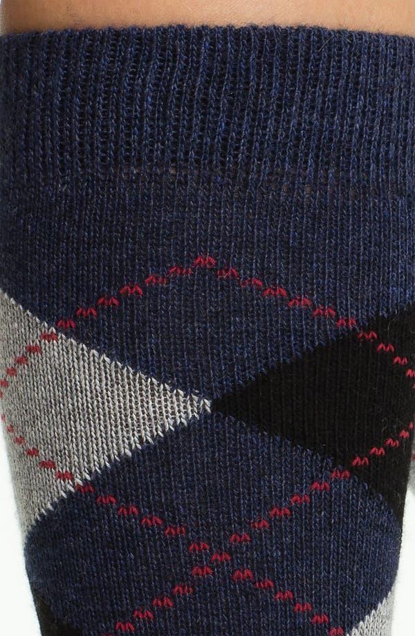 Alternate Image 2  - Nordstrom Argyle Knee High Socks