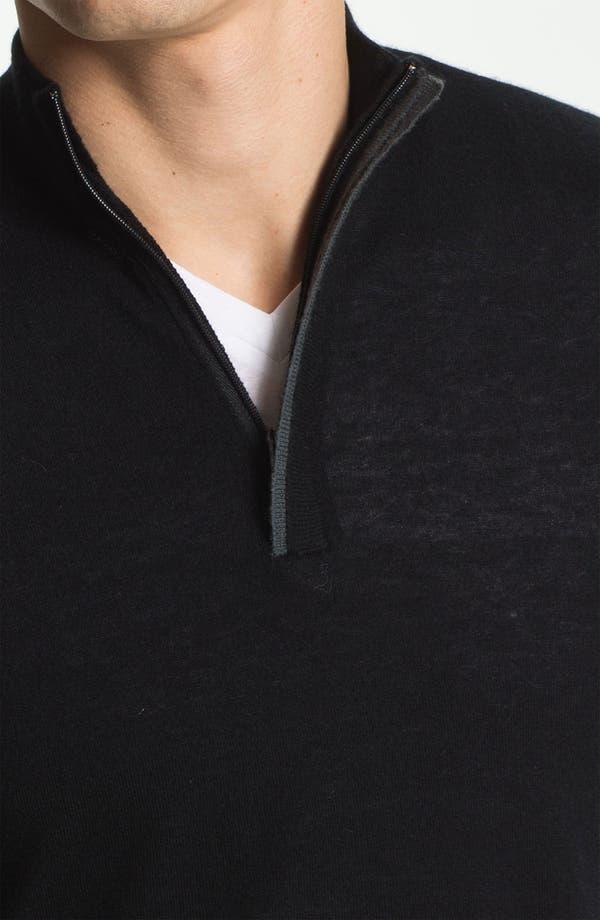 Alternate Image 3  - Armani Collezioni Quarter Zip Cashmere Sweater