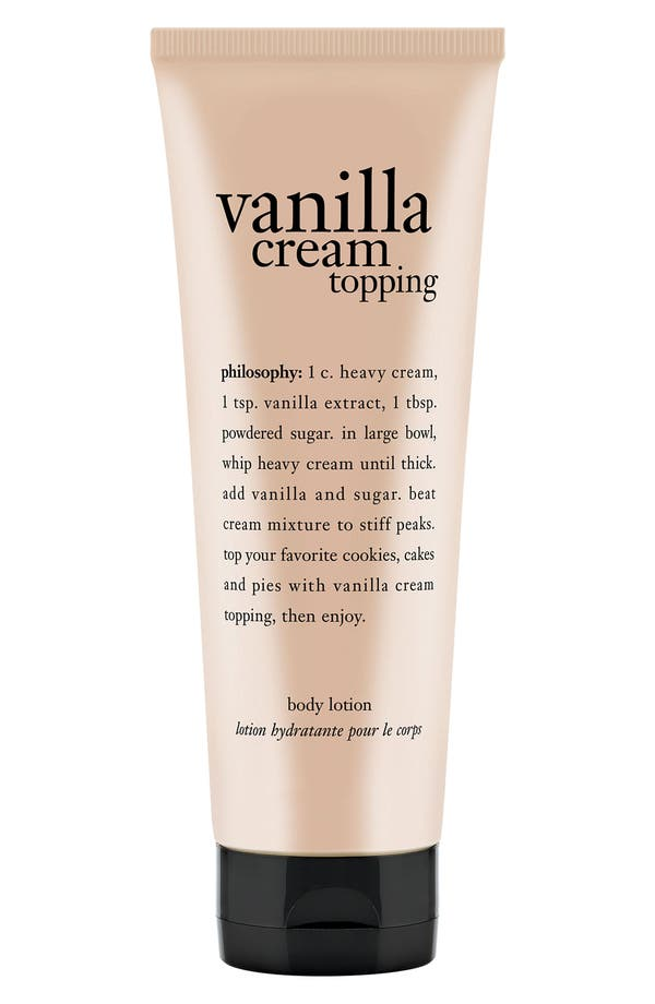 Main Image - philosophy 'whipped vanilla topping' body lotion